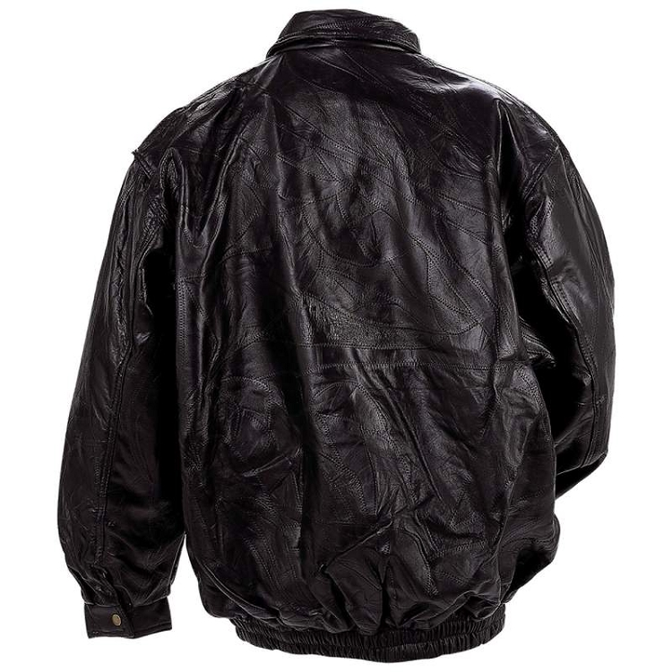 c0bdd3d21 Mens Italian Mosaic™ Genuine Top Grain Lambskin Black Leather Jacket