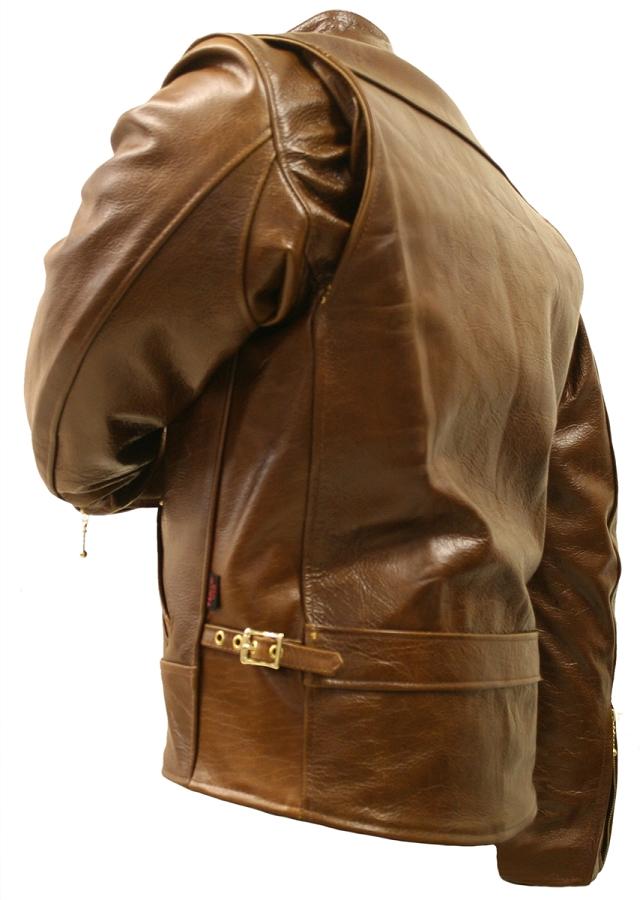 Buffalo leather motorcycle jacket