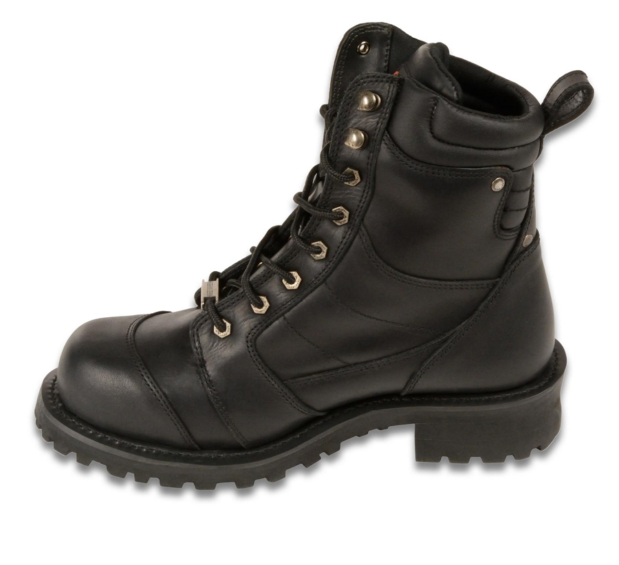 Mens Black Leather Classic Logger Boots 8 Quot Tall