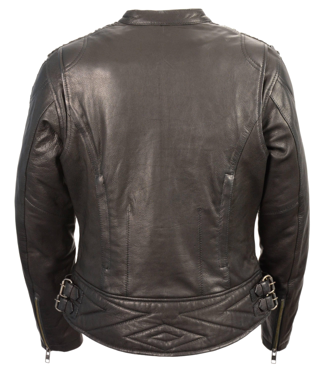 Redline Womens Naked Goat Skin Leather Motorcycle Jacket