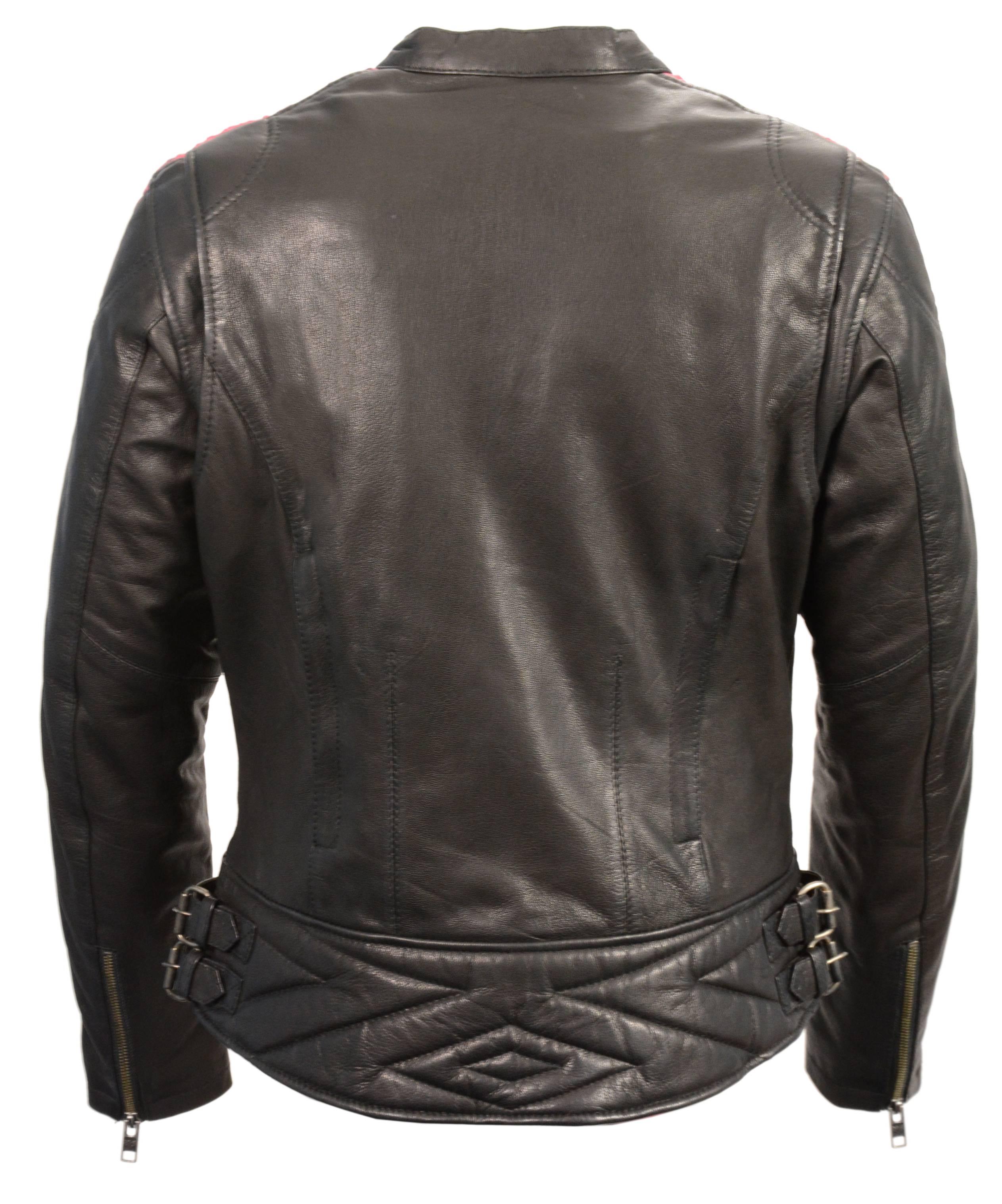 High Mileage Ladies Lightweight Acid Wash Goatskin Leather