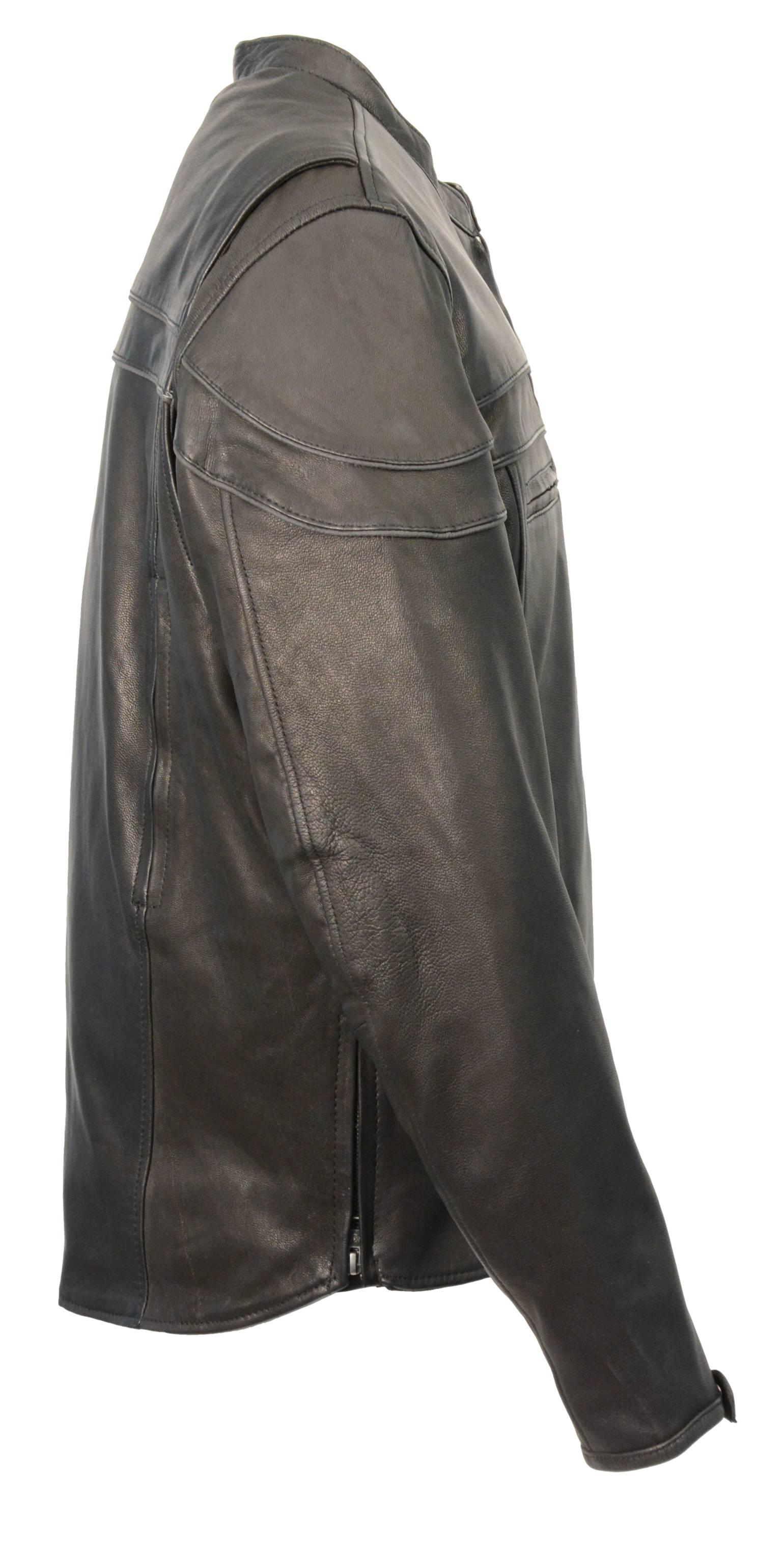Sporty leather jackets