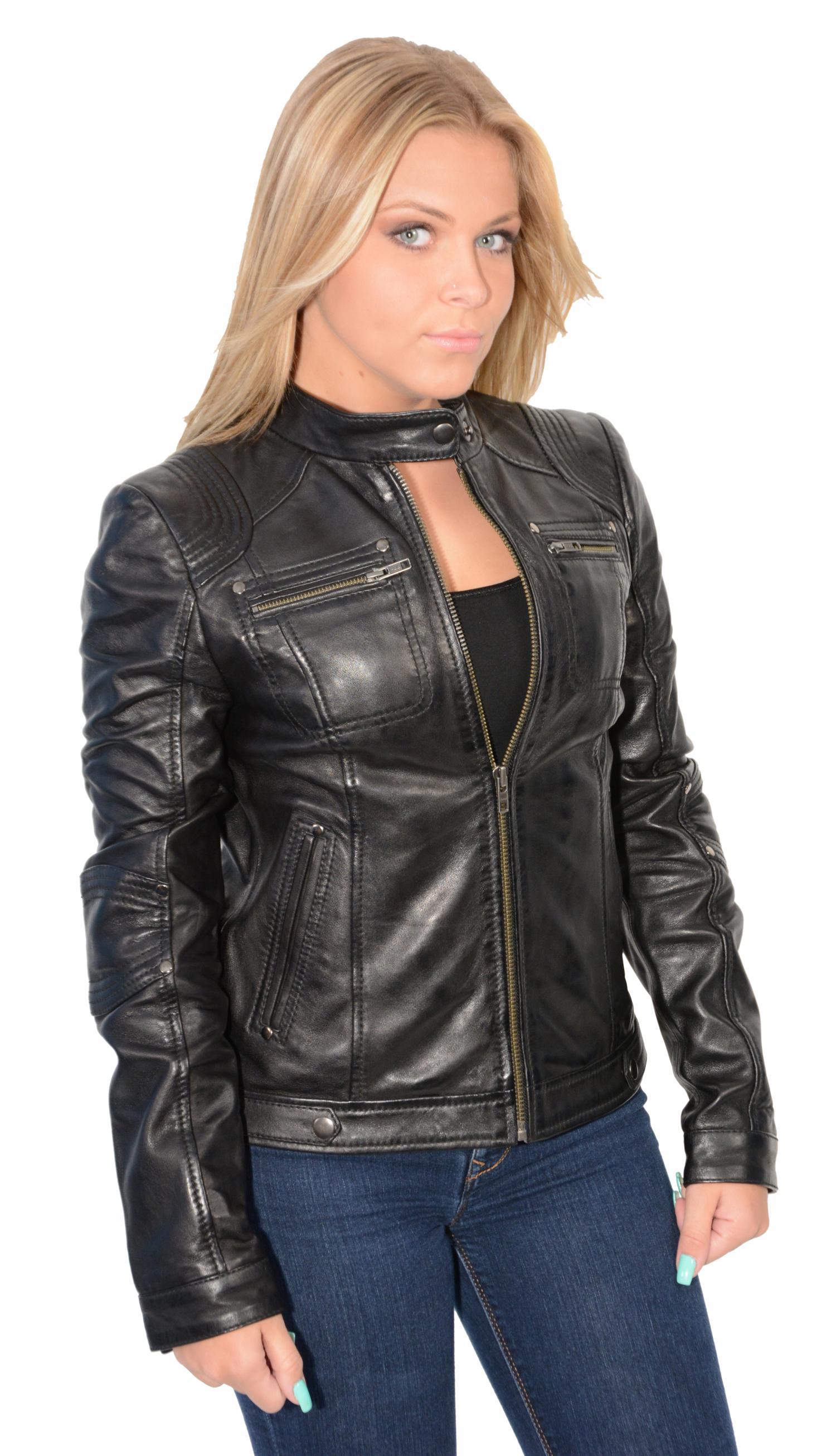Leather race jacket