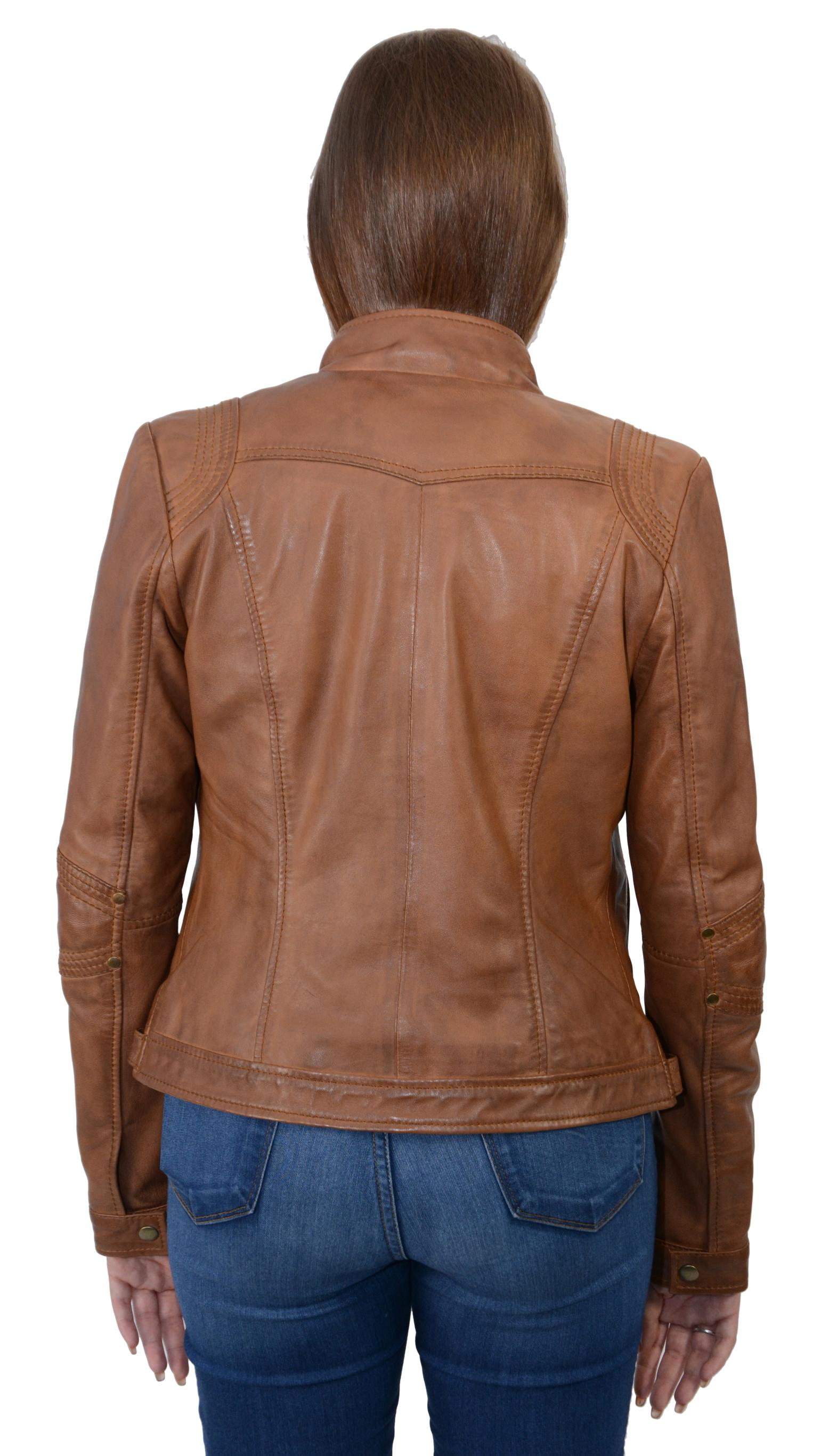 Leather driving jacket