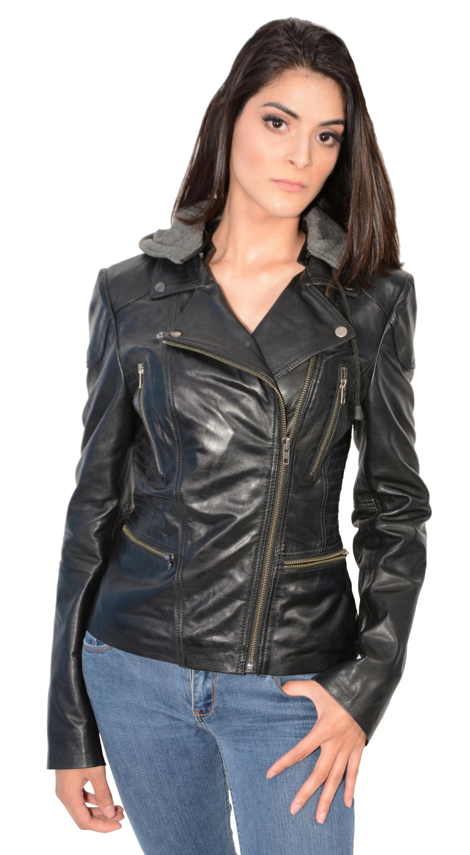 black leather jackets for women with hood wwwimgkidcom