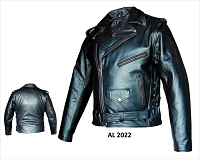 Mens Black Half Belt Classic Motorcycle Biker Jacket w/ Laces