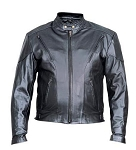 Mens Black Naked Cowhide Touring Motorcycle Biker Jacket
