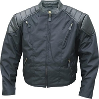 Mens Cordura Fabric Vented Motorcycle Jacket - Side Snaps