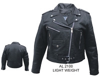 Ladies Black Leather Motorcycle Biker Jacket Soft Lambskin