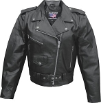 Ladies Black leather Motorcycle Biker Jacket Split Cowhide