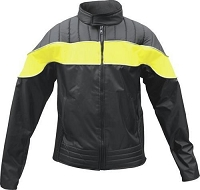 Ladies Nylon Motorcycle Riding Biker Jacket With Yellow Strip