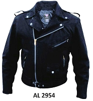 Black Denim Cotton Basic Classic Motorcycle Biker Jacket