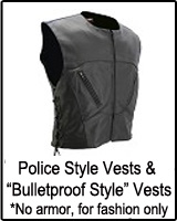 "Police Style Vests & ""Bulletproof Style"" Vests *No armor, for fashion only"