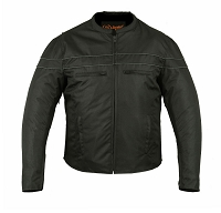 Mens All Season Water Resistant Polyester Vented Biker Jacket