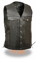 Mens Tall Black Leather