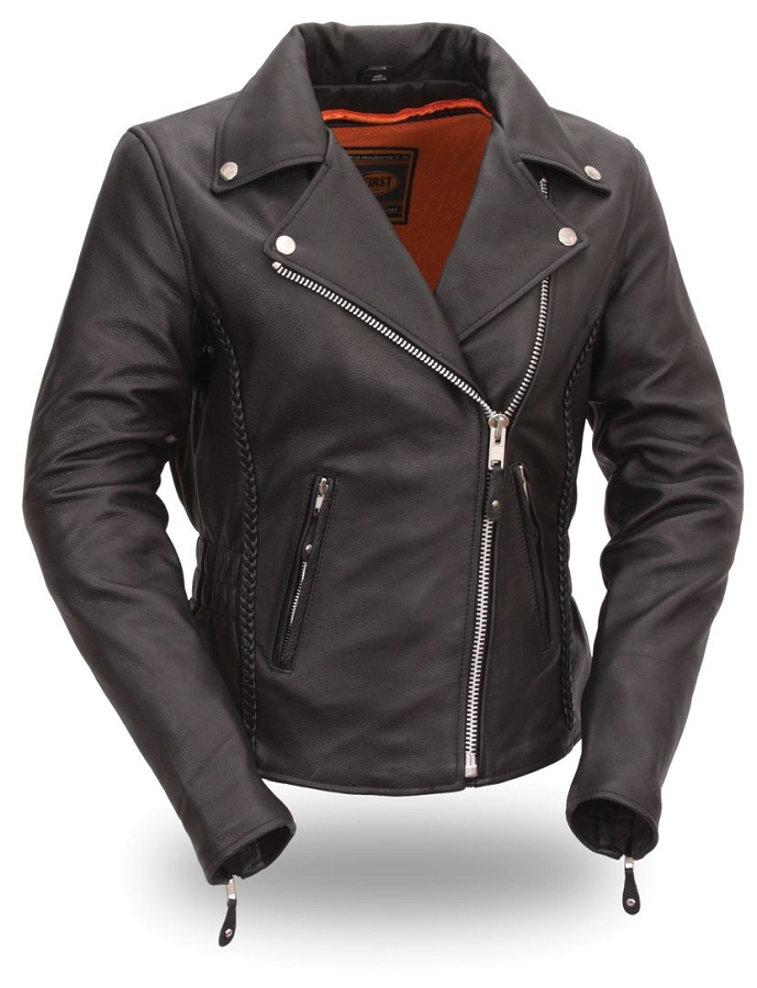 biker chicks leather apparel