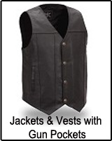 Vests and Jackets with concealed gun pockets