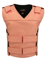 Womens Pink Bulletproof Style Leather Vest