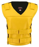 Womens Yellow Bulletproof Style Leather Vest