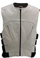 Mens The Interceptor Leather Bulletproof Style Vest White