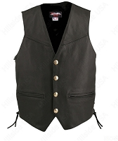 Men's Defiance Biker Vest - Gun Pockets