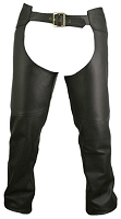 Men's Double Stitched Leather Chaps - Choose a Color