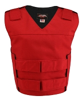 Womens Red Bulletproof Style Cordura Cloth Vest