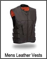mens leather vests