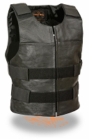 Mens Zipper Front Replica Bullet Proof Style Vest