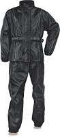 Womens Black Lightweight Rain Suit Water Proof
