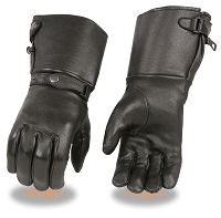 Mens Deer Skin Leather Ultra Long Gauntlet Gloves