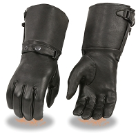 Ladies Deerskin Leather Ultra Long Gauntlet Gloves