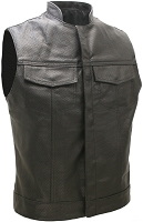 SOA Style Full Perforated Leather Biker Vest