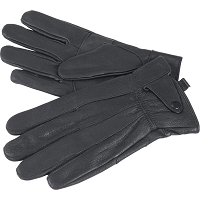 Mens Solid Genuine Lambskin Lined Leather Gloves