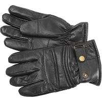 Mens Solid Genuine Goat Leather Lined Riding Gloves