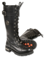 Ladies Black Leather 14