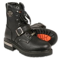 Mens Black Leather  Need Height  Buckled and Laced Boot w Side Zipper