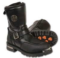 Mens  Need Height  Strap Boot w/ Reflective Piping & Gear Shift Protection