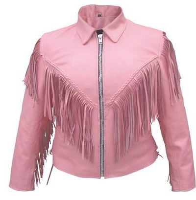 Pink striped and black cowhide leather jacket for women in a motorcycle scooter style with it's mandarin collar and full sleeve zip out lining. Fast track your look with this black and pink stripped leather racing jacket. Double racing stripes up the sides and down each arm along with black and pink.5/5(1).