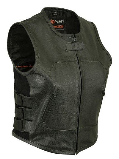Womens Updated Leather SWAT Team Style Vest